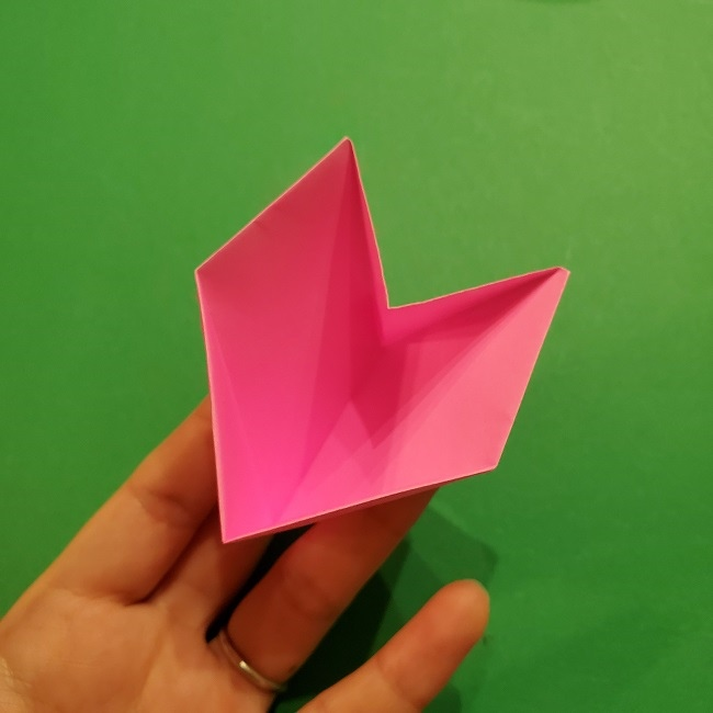 桜の折り紙 器(小物入れ)の折り方作り方 (28)