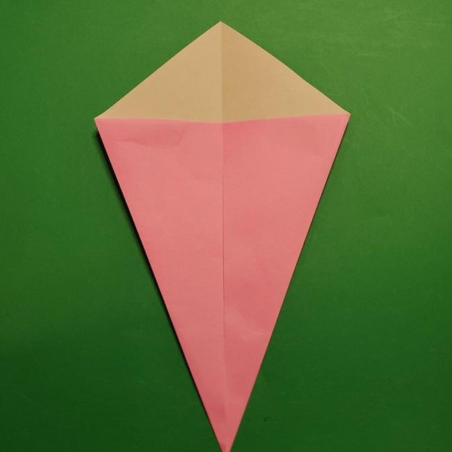 桜の折り紙 器(小物入れ)の折り方作り方 (4)