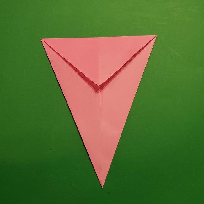桜の折り紙 器(小物入れ)の折り方作り方 (5)