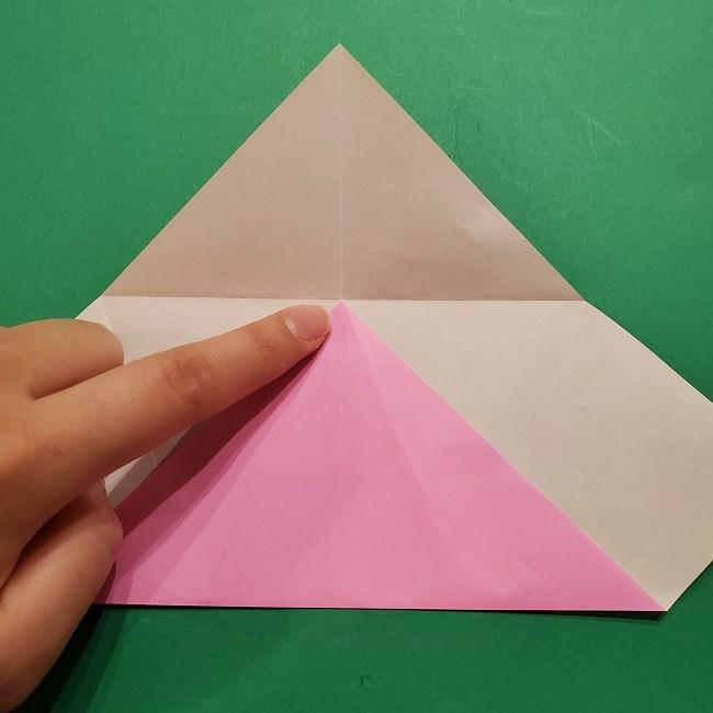 桜の折り紙 器(小物入れ)の折り方作り方 (7)