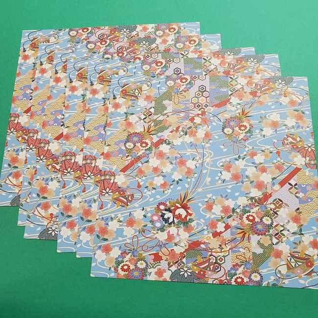 桜の折り紙 壁飾りリース*用意するもの (1)