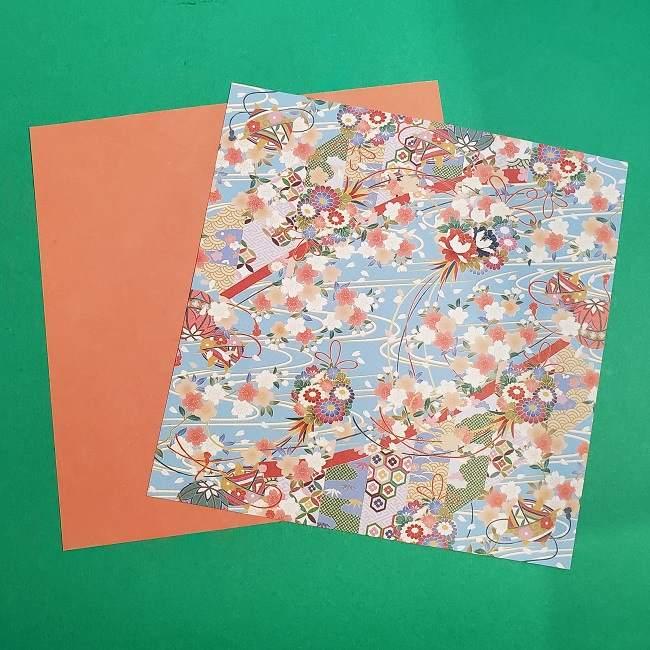 桜の折り紙 壁飾りリース*用意するもの (2)