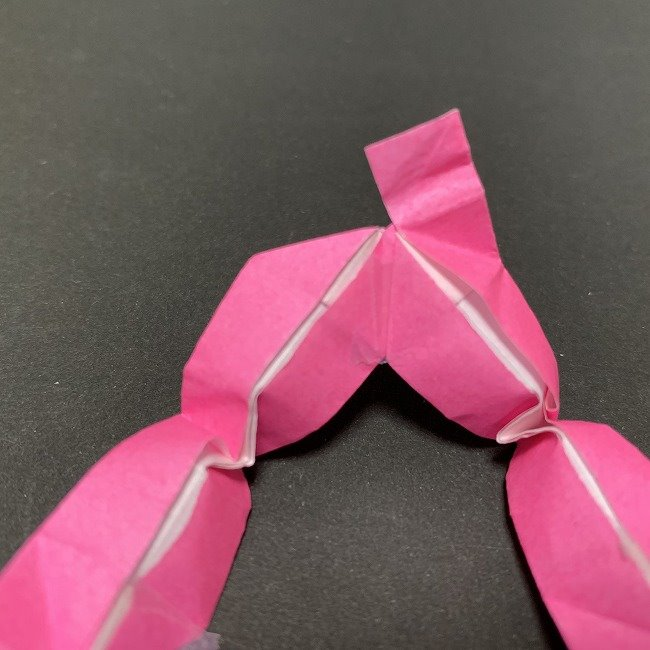桜の折り紙 立体的なくす玉*折り方作り方補足 (3)