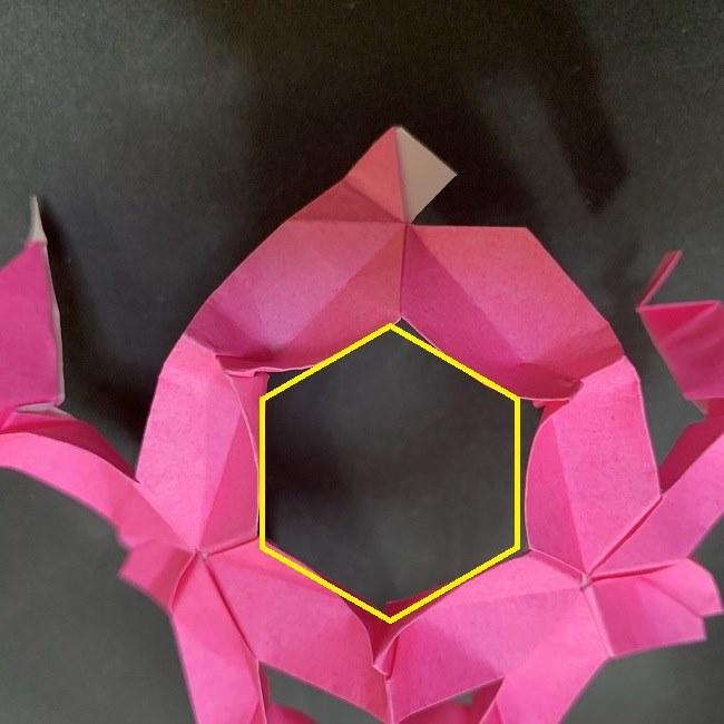 桜の折り紙 立体的なくす玉*折り方作り方補足 (5)