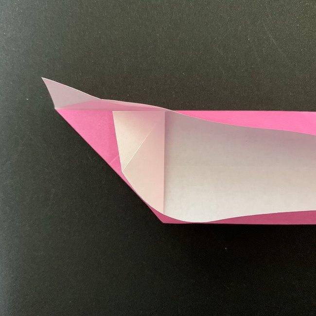 桜の折り紙 立体的なくす玉*折り方作り方 (12)
