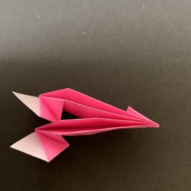 桜の折り紙 立体的なくす玉*折り方作り方 (25)