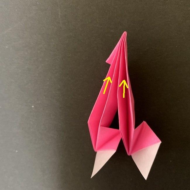 桜の折り紙 立体的なくす玉*折り方作り方 (26)