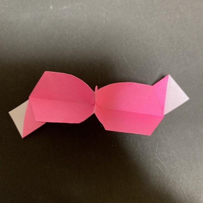 桜の折り紙 立体的なくす玉*折り方作り方 (34)