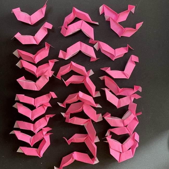 桜の折り紙 立体的なくす玉*折り方作り方 (35)