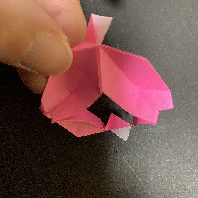 桜の折り紙 立体的なくす玉*折り方作り方 (39)