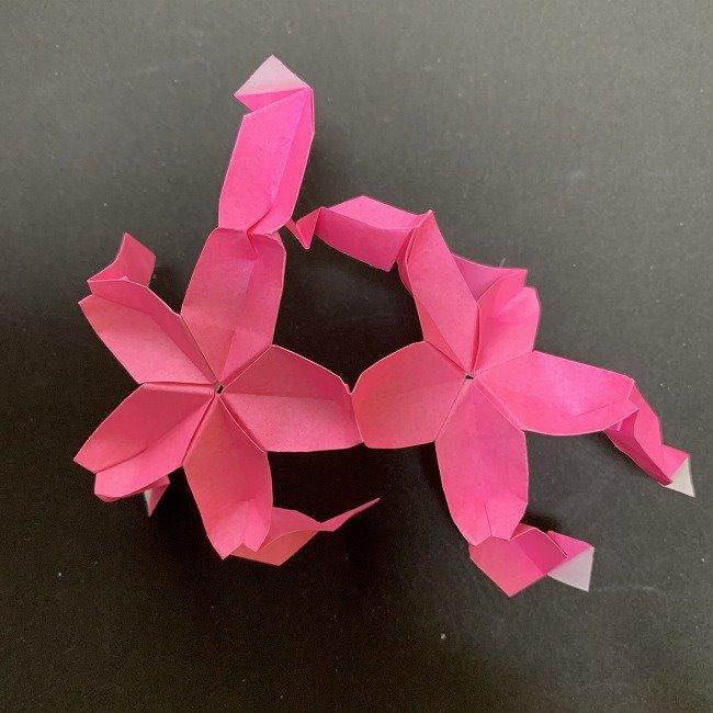 桜の折り紙 立体的なくす玉*折り方作り方 (41)