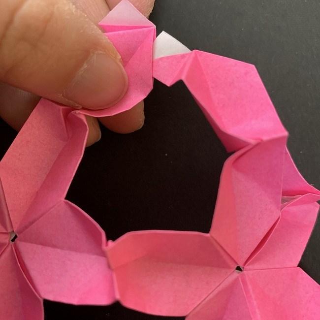 桜の折り紙 立体的なくす玉*折り方作り方 (42)