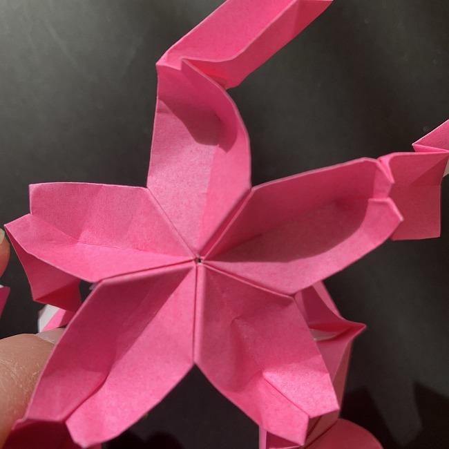 桜の折り紙 立体的なくす玉*折り方作り方 (43)