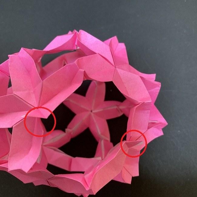 桜の折り紙 立体的なくす玉*折り方作り方 (44)