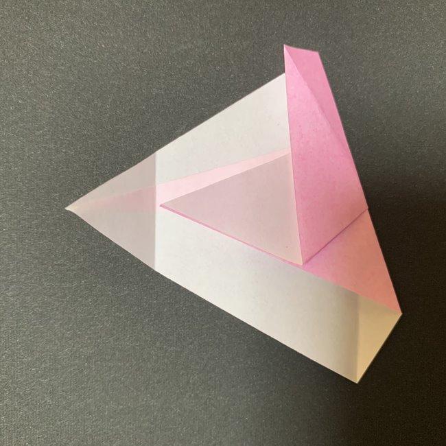 桜の花びら 折り紙の折り方・作り方 (10)