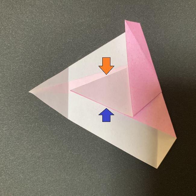 桜の花びら 折り紙の折り方・作り方 (11)