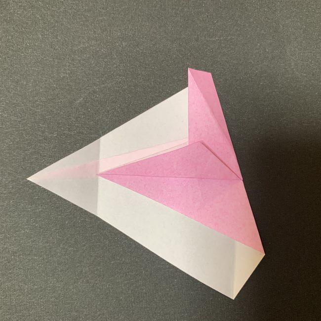 桜の花びら 折り紙の折り方・作り方 (12)