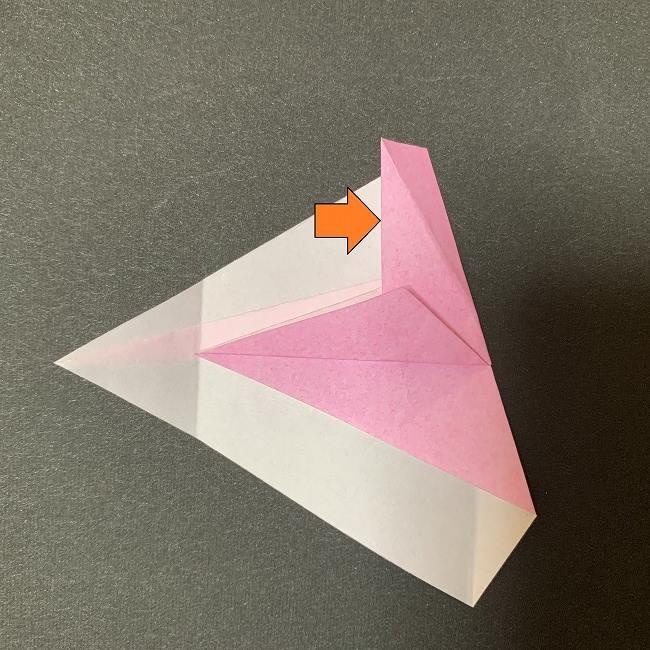 桜の花びら 折り紙の折り方・作り方 (13)