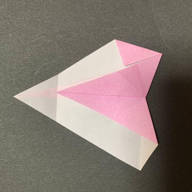 桜の花びら 折り紙の折り方・作り方 (15)