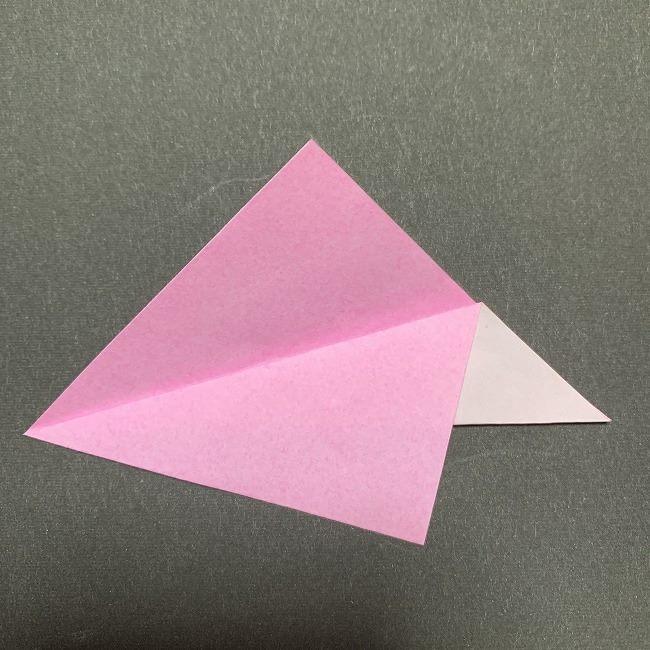 桜の花びら 折り紙の折り方・作り方 (3)