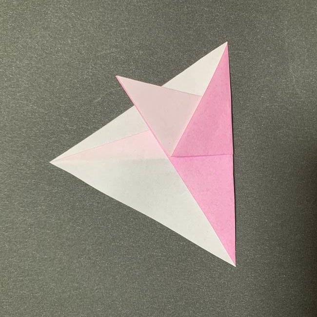 桜の花びら 折り紙の折り方・作り方 (5)