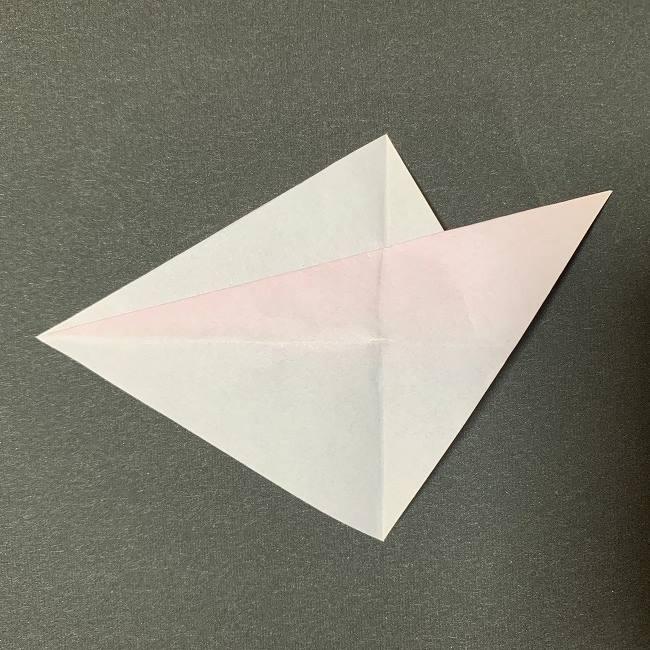桜の花びら 折り紙の折り方・作り方 (6)
