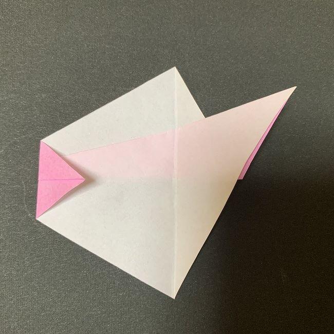桜の花びら 折り紙の折り方・作り方 (7)