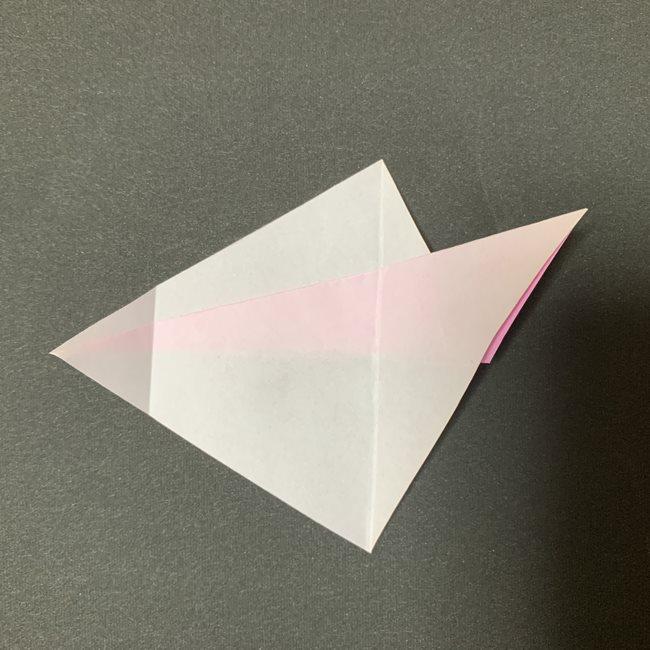 桜の花びら 折り紙の折り方・作り方 (8)