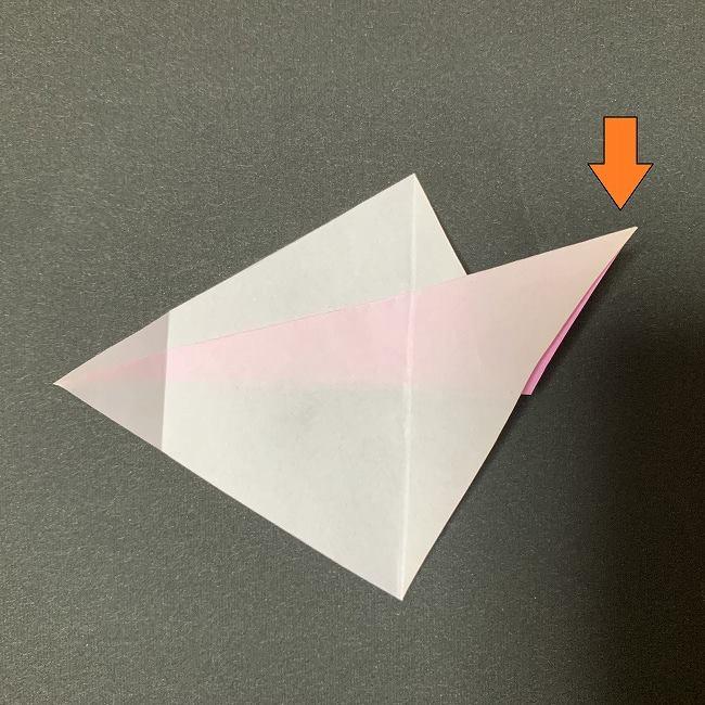桜の花びら 折り紙の折り方・作り方 (9)