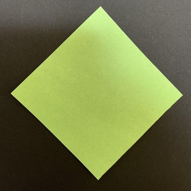 桜の葉の折り紙 簡単な折り方作り方 (1)