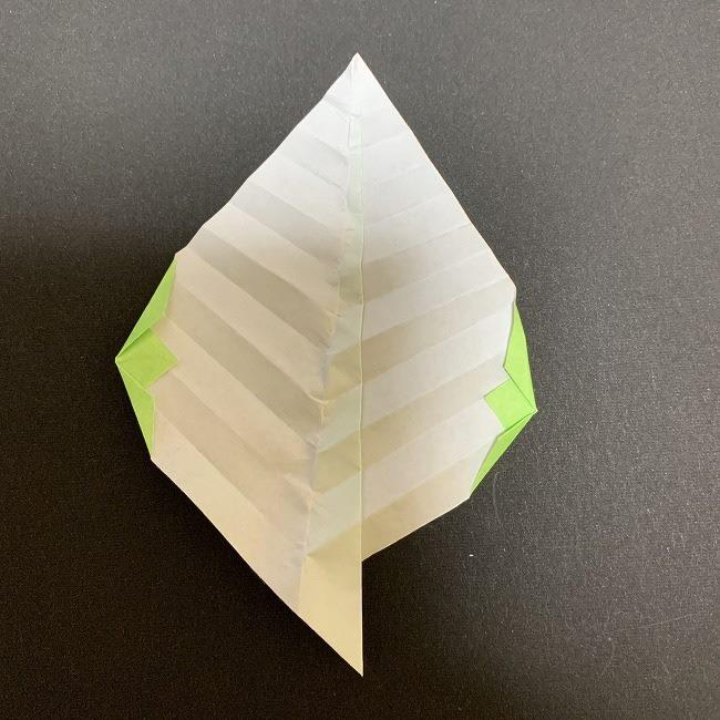 桜の葉の折り紙 簡単な折り方作り方 (11)
