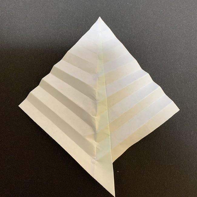 桜の葉の折り紙 簡単な折り方作り方 (8)