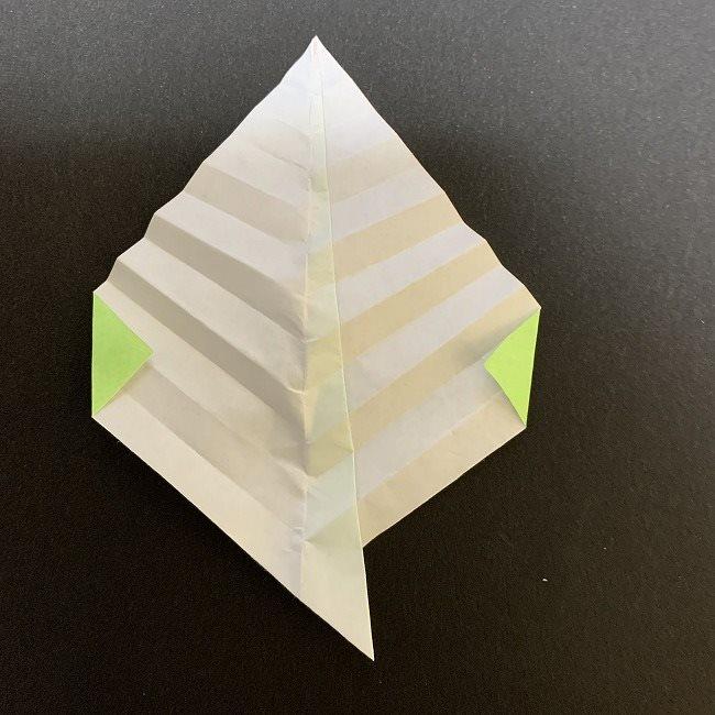 桜の葉の折り紙 簡単な折り方作り方 (9)