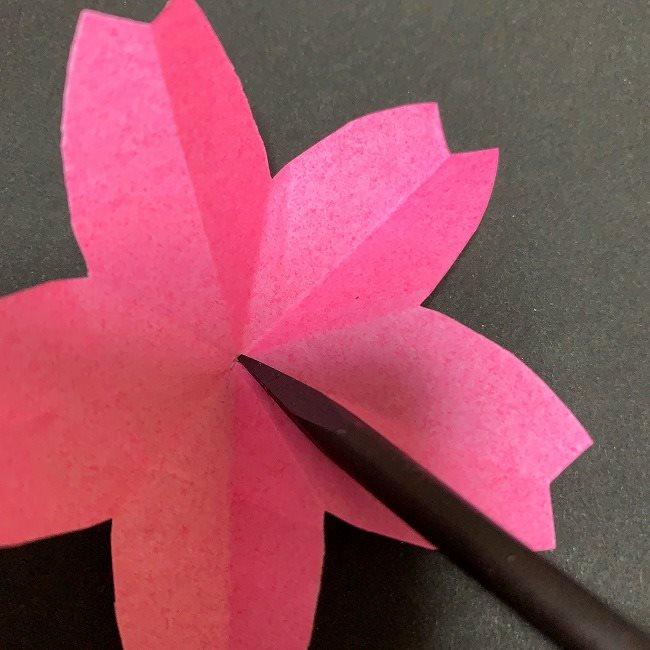 桜の装飾・折り紙ガーランドの作り方・補足 (1)