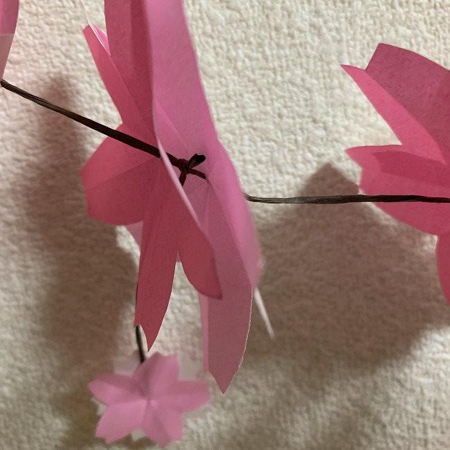 桜の装飾・折り紙ガーランドの作り方 (10)