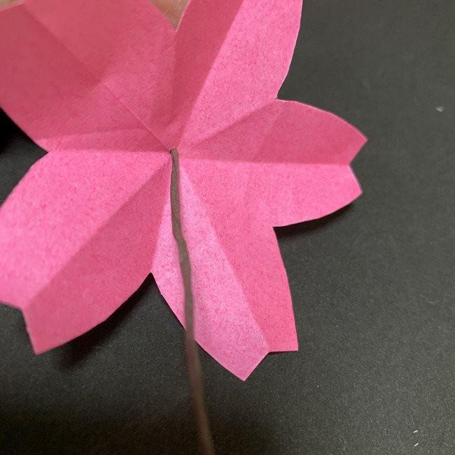 桜の装飾・折り紙ガーランドの作り方 (5)