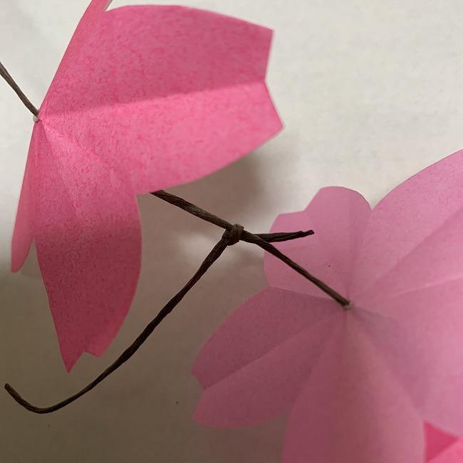 桜の装飾・折り紙ガーランドの作り方 (6)