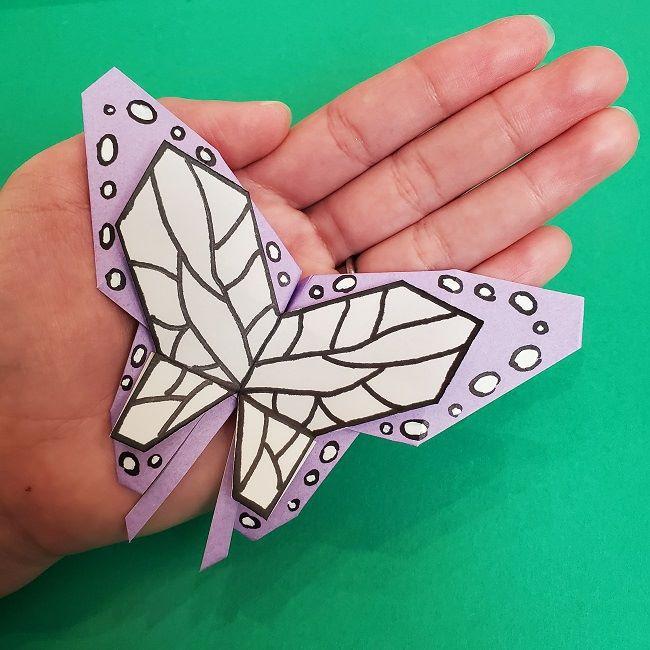 胡蝶しのぶの髪飾り(蝶々)折り紙の作り方★かわいい鬼滅の刃グッズ