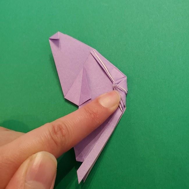 胡蝶しのぶ 髪飾りの作り方(折り紙) (25)