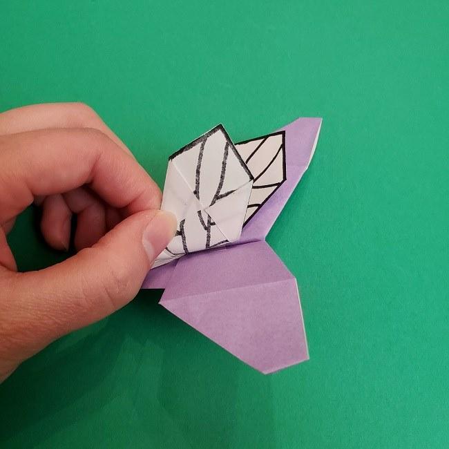 胡蝶しのぶ 髪飾りの作り方(折り紙) (43)