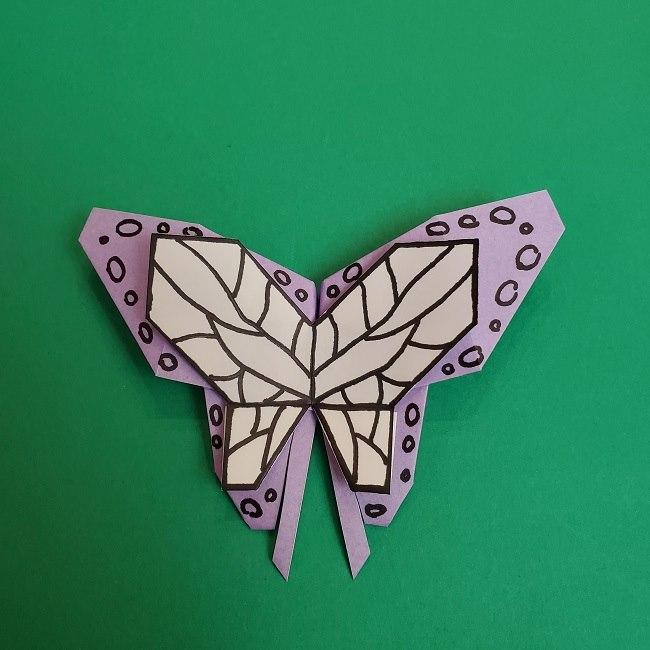 胡蝶しのぶ 髪飾りの作り方(折り紙) (45)