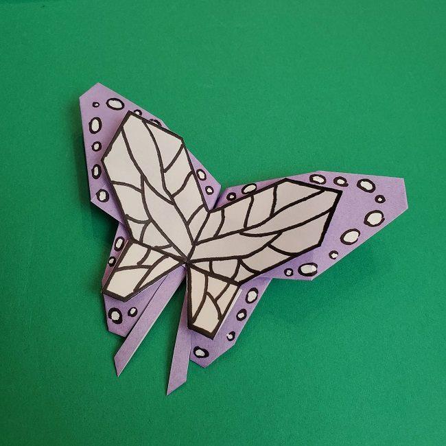 胡蝶しのぶ 髪飾りの作り方(折り紙) (46)