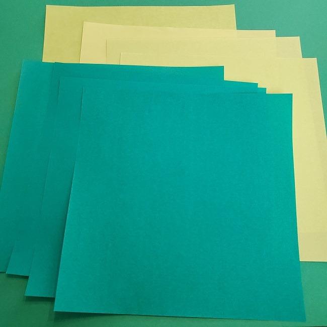 葉っぱのリース 折り紙*用意するもの (1)