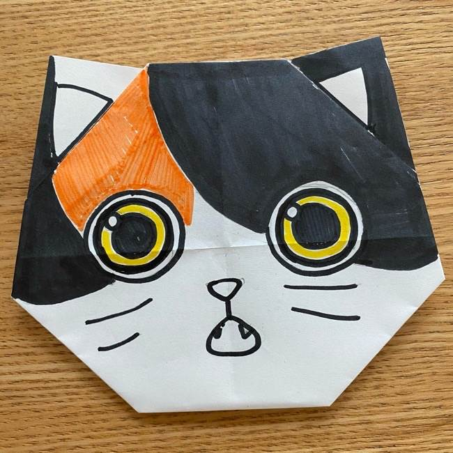 鬼滅の刃(きめつのやいば)折り紙 《茶々丸》の折り方作り方 (13)