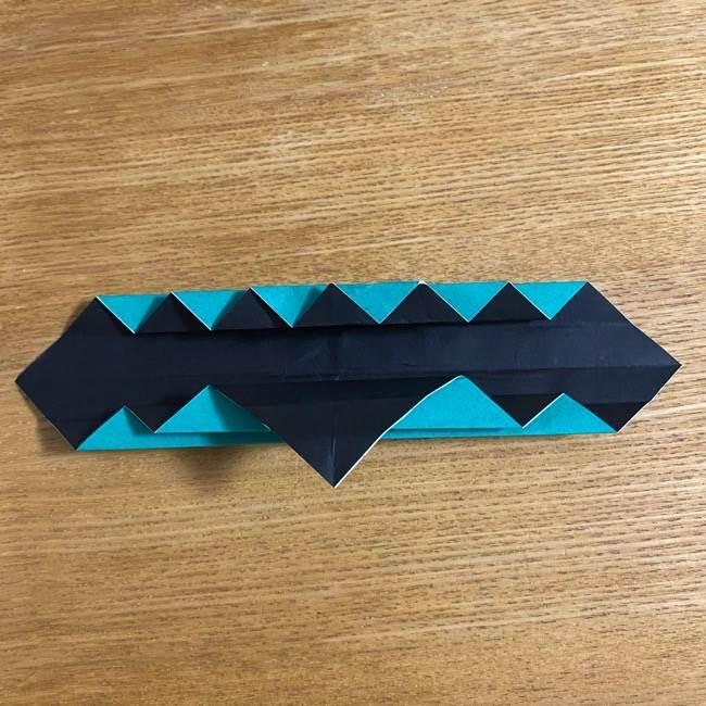 鬼滅の刃 折り紙ブレスレットの折り方・作り方 (22)