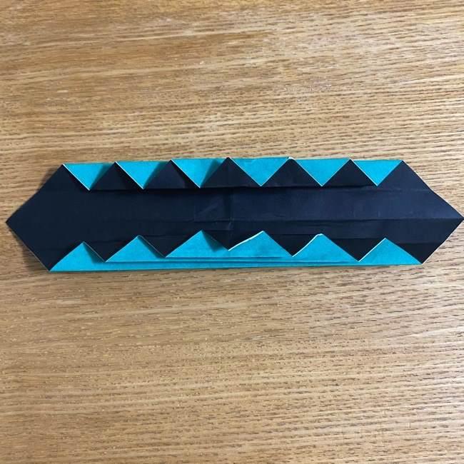鬼滅の刃 折り紙ブレスレットの折り方・作り方 (24)
