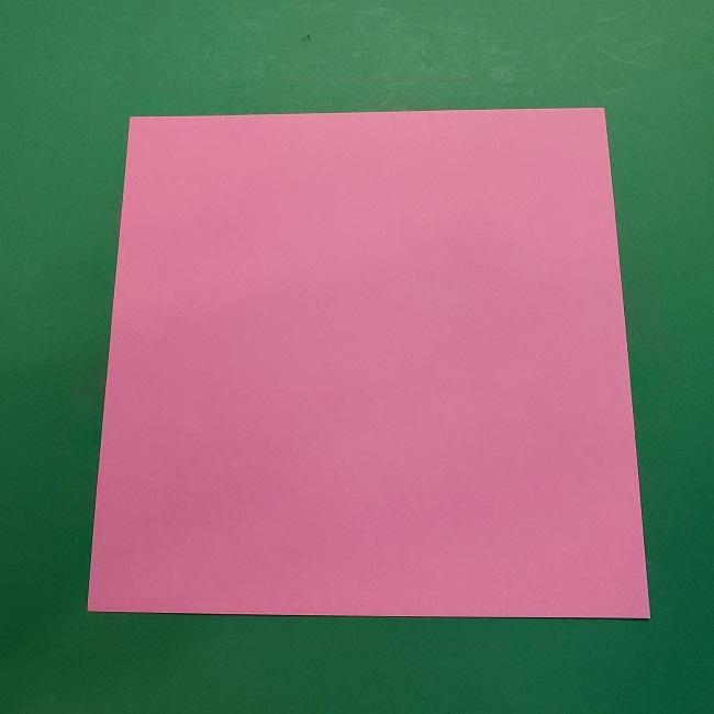 4月の折り紙 チューリップ(立体)の花*作り方折り方 (1)
