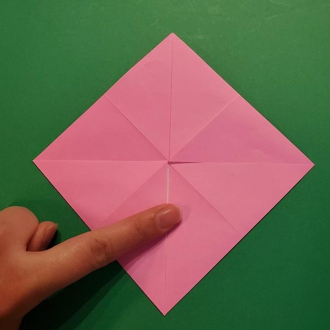 4月の折り紙 チューリップ(立体)の花*作り方折り方 (10)