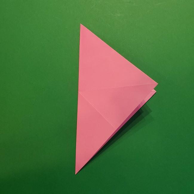 4月の折り紙 チューリップ(立体)の花*作り方折り方 (12)