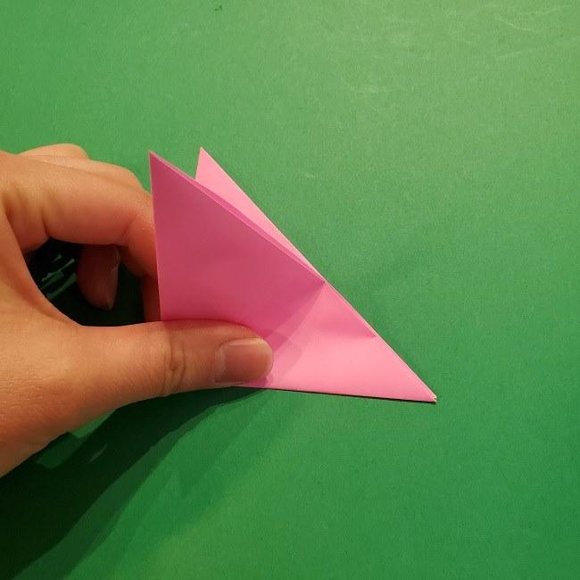 4月の折り紙 チューリップ(立体)の花*作り方折り方 (13)